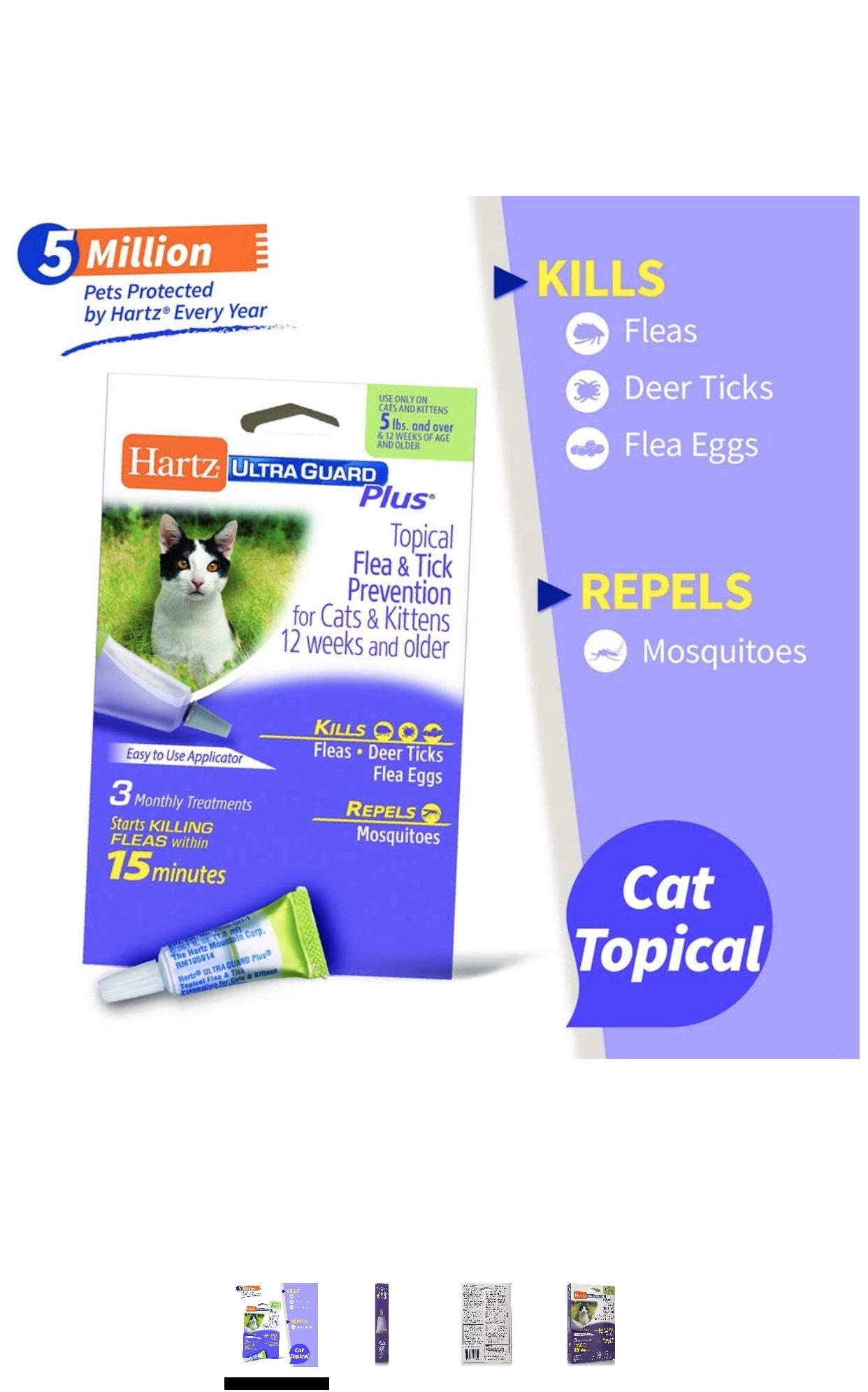 Hartz Ultra Guard Flea & Tick Plus for Cat & Kittens 12 Weeks