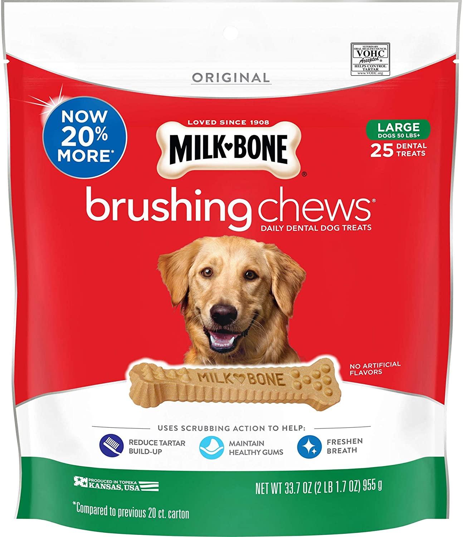 Milk-Bone Brushing Chews Daily Dental Dog Treats Large 955g