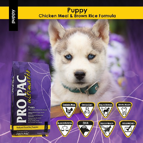 PRO PAC Ultimates Puppy Chicken & Brown Rice Formula 2.5kg