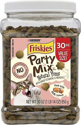 Friskies Party Mix Natural Yums Cat Treats With Real Salmon 850g