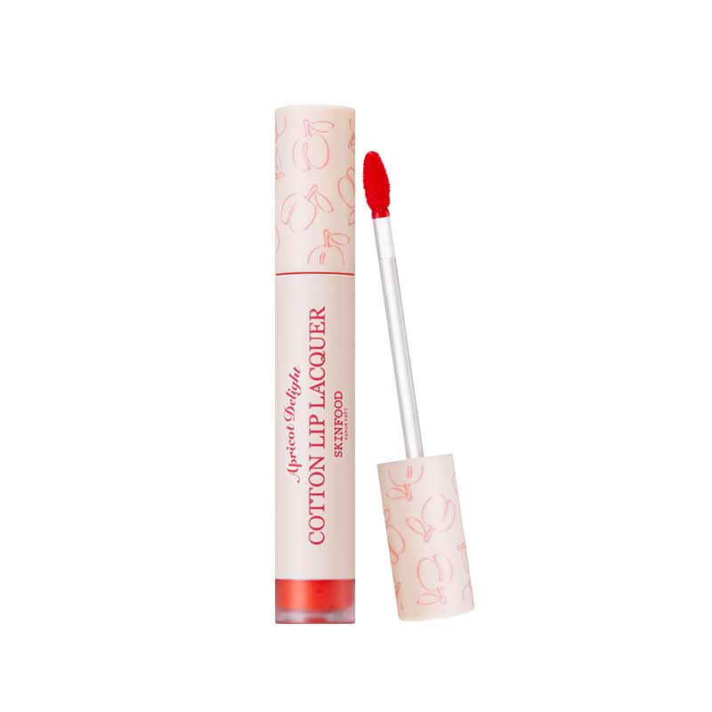 APRICOT DELIGHT COTTON LIP LACQUER #3 (Smiley Apricot)