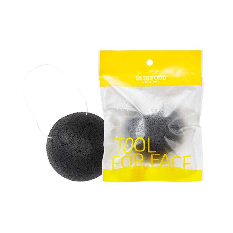 CHARCOAL KONJAC CLEANSING PUFF