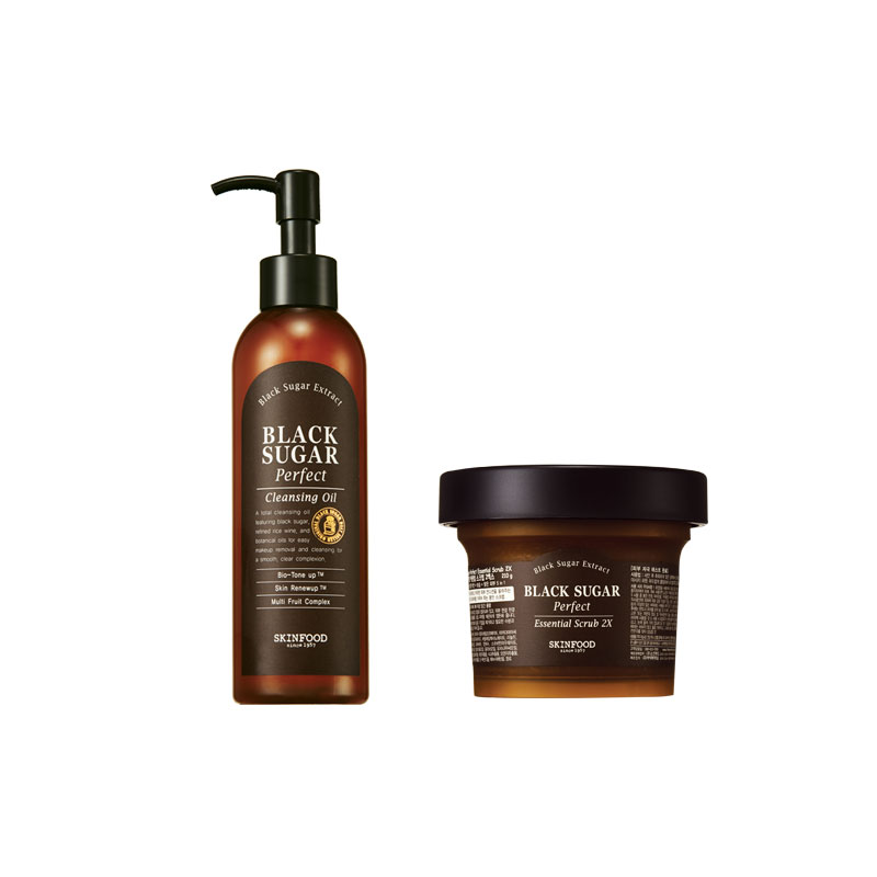 Combo Black Sugar Perfect Cleansing Oil + Scrub 2X