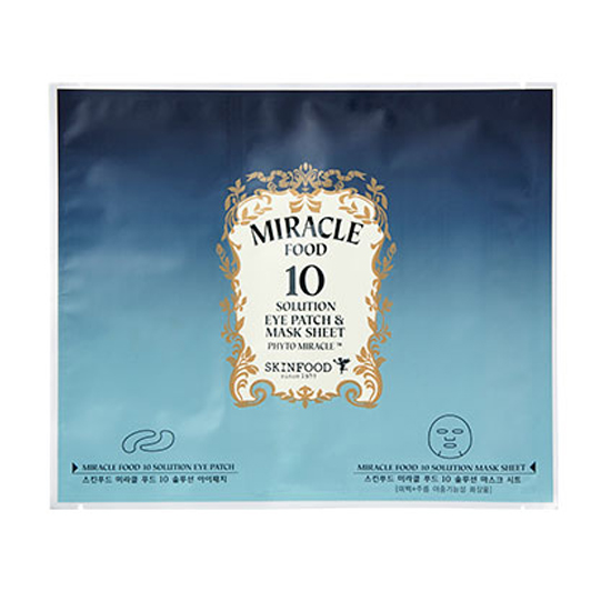 Mặt nạ miếng MIRACLE FOOD 10 SOLUTION EYE PATCH & MASK SHEET