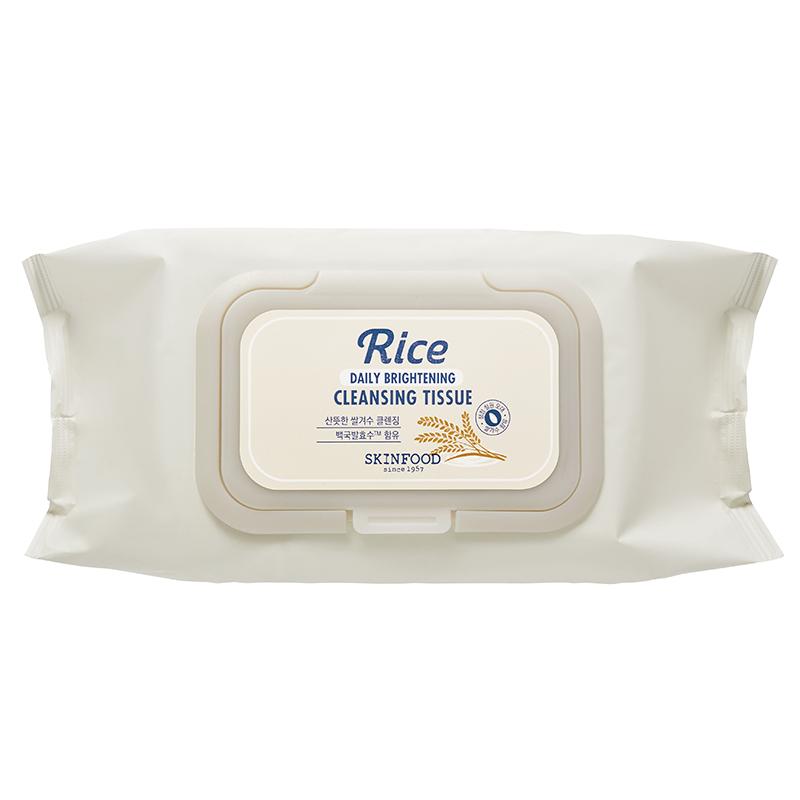 Khăn giấy tẩy trang RICE DAILY BRIGHTENING CLEANSING TISSUE