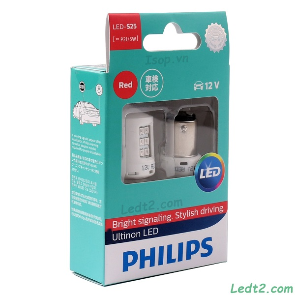 Đèn hậu phanh LED Philips Ultinon S25 P21/5 RED