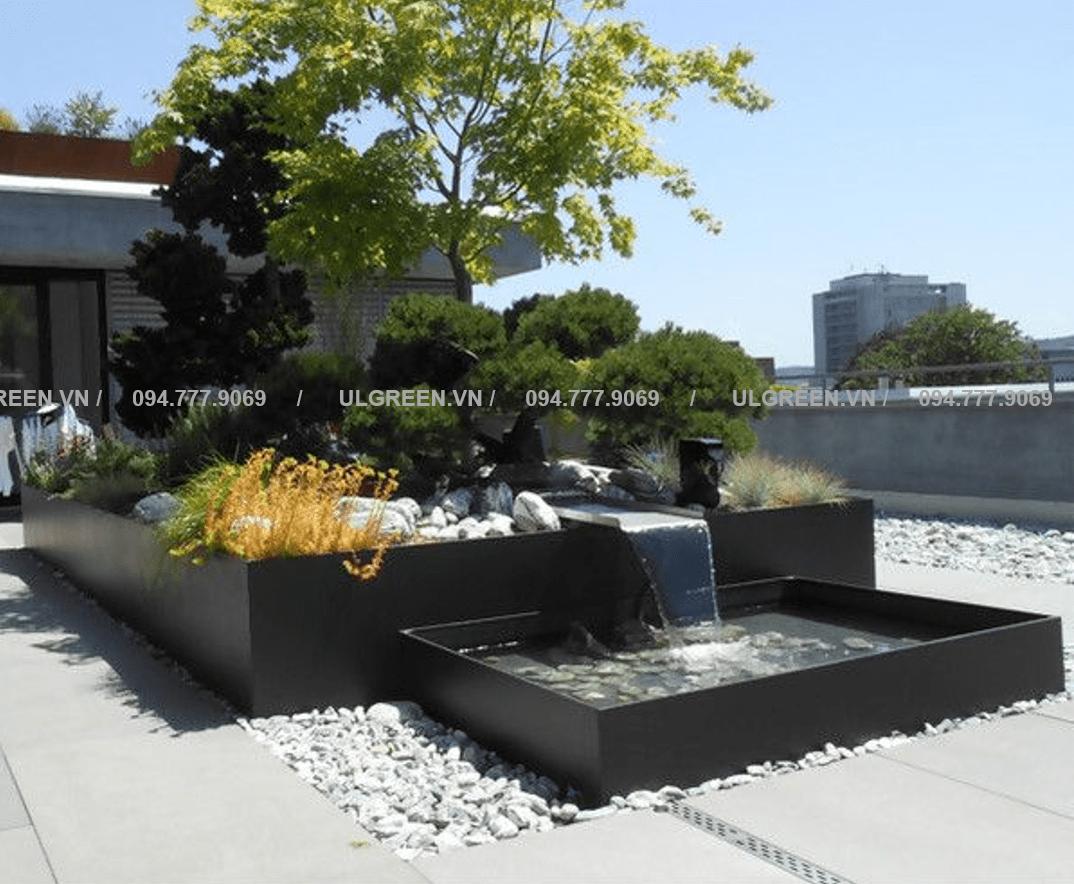 Bể composite kèm thác nước