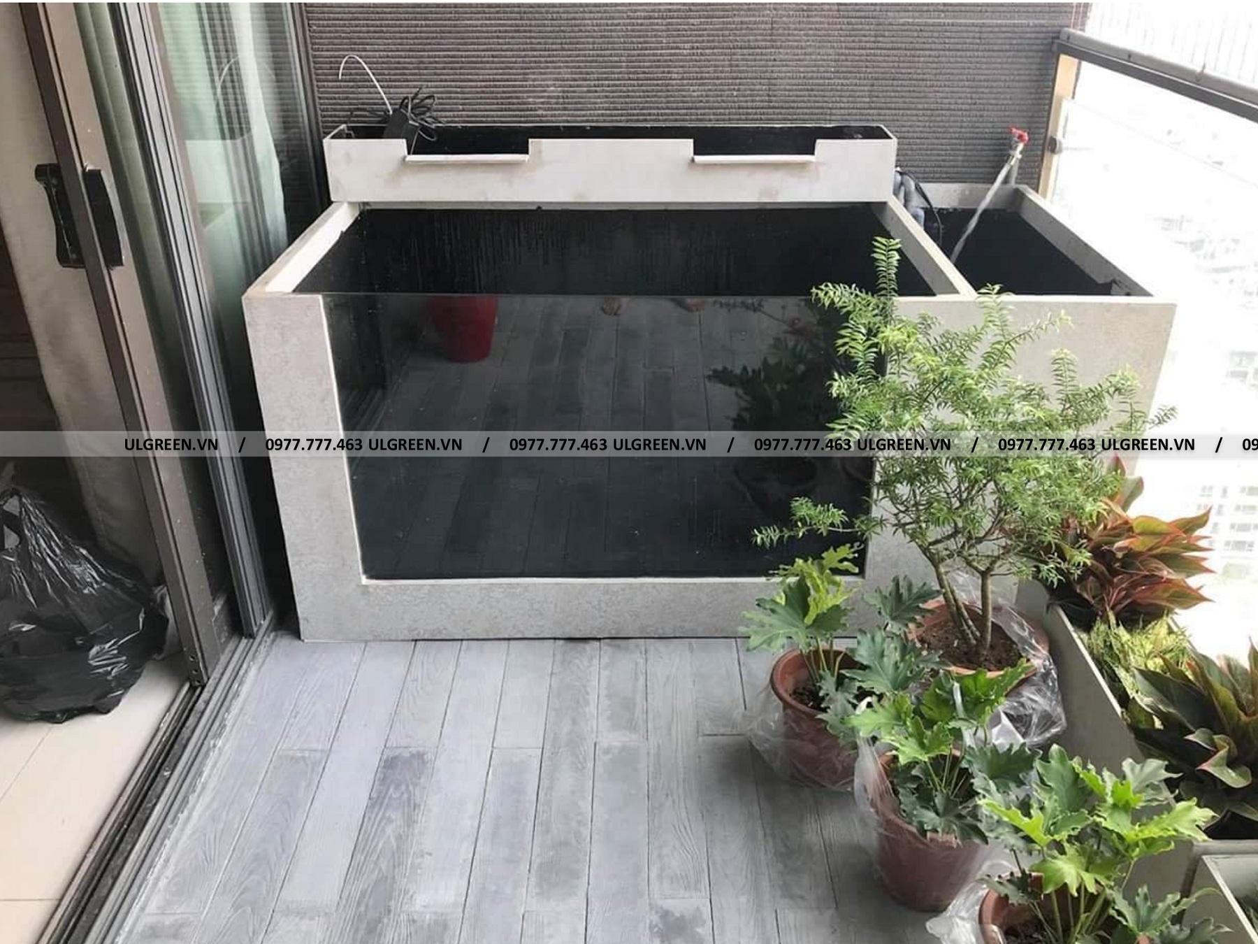 Bể cá composite xi măng