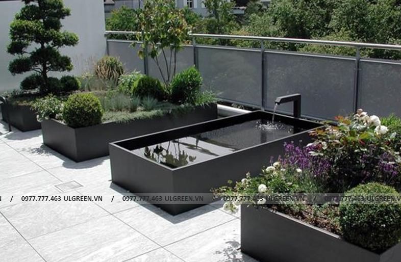 Bể composite màu đen