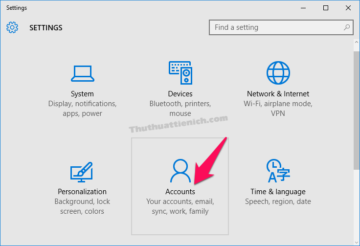 tạo password đăng nhập windows 10