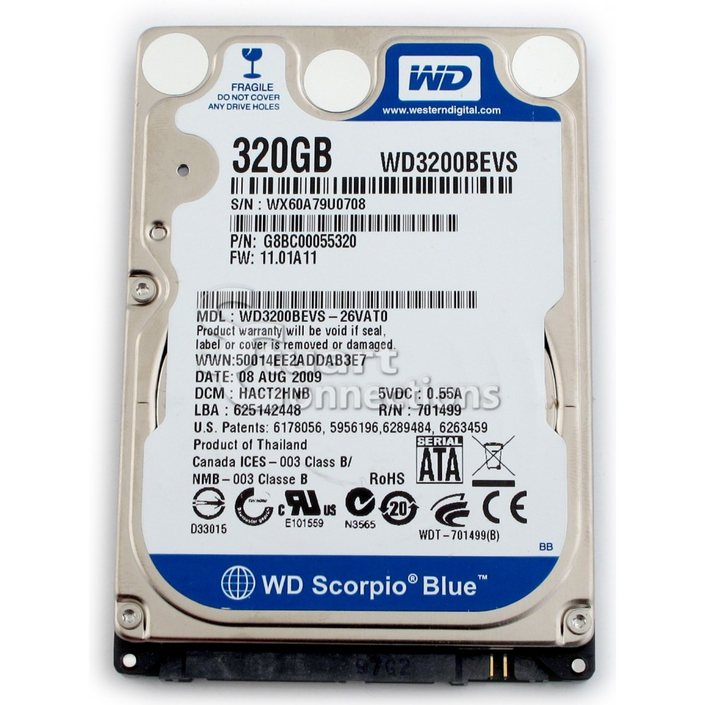 Ổ cứng HDD 320GB laptop WD