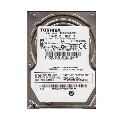 Ổ cứng Toshiba 500GB/5400 Sata For Laptop