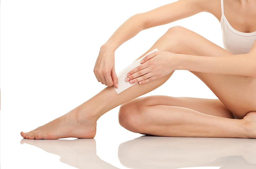 ½ leg waxing