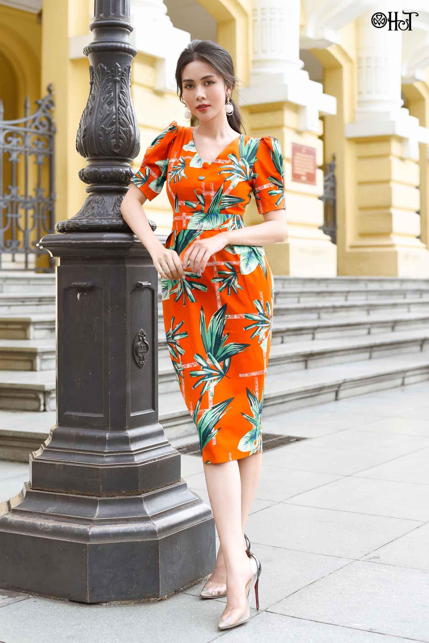 Đầm ôm x.ly t.bồng Cam