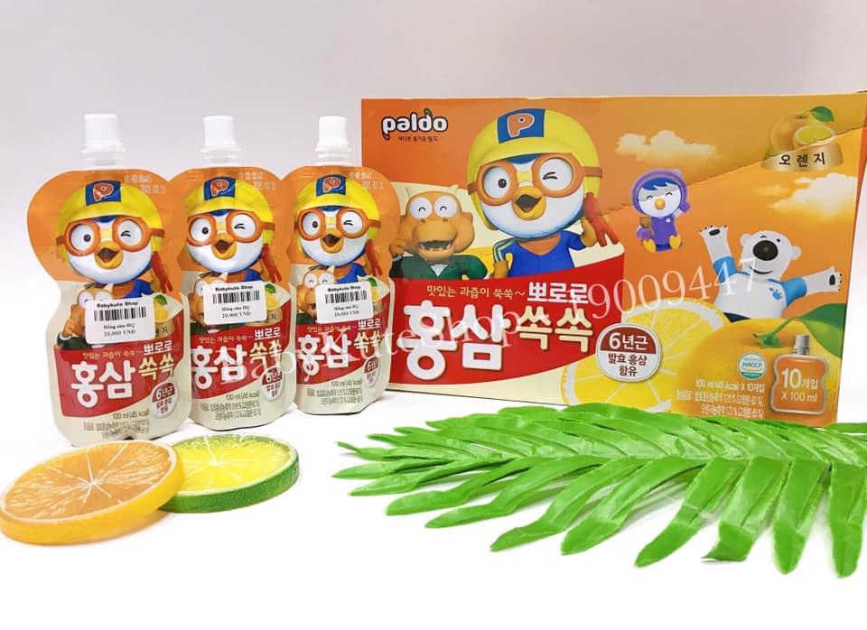 Nước Hồng Sâm Hoa Quả Paldo Pororo Korea ( Vị Cam)