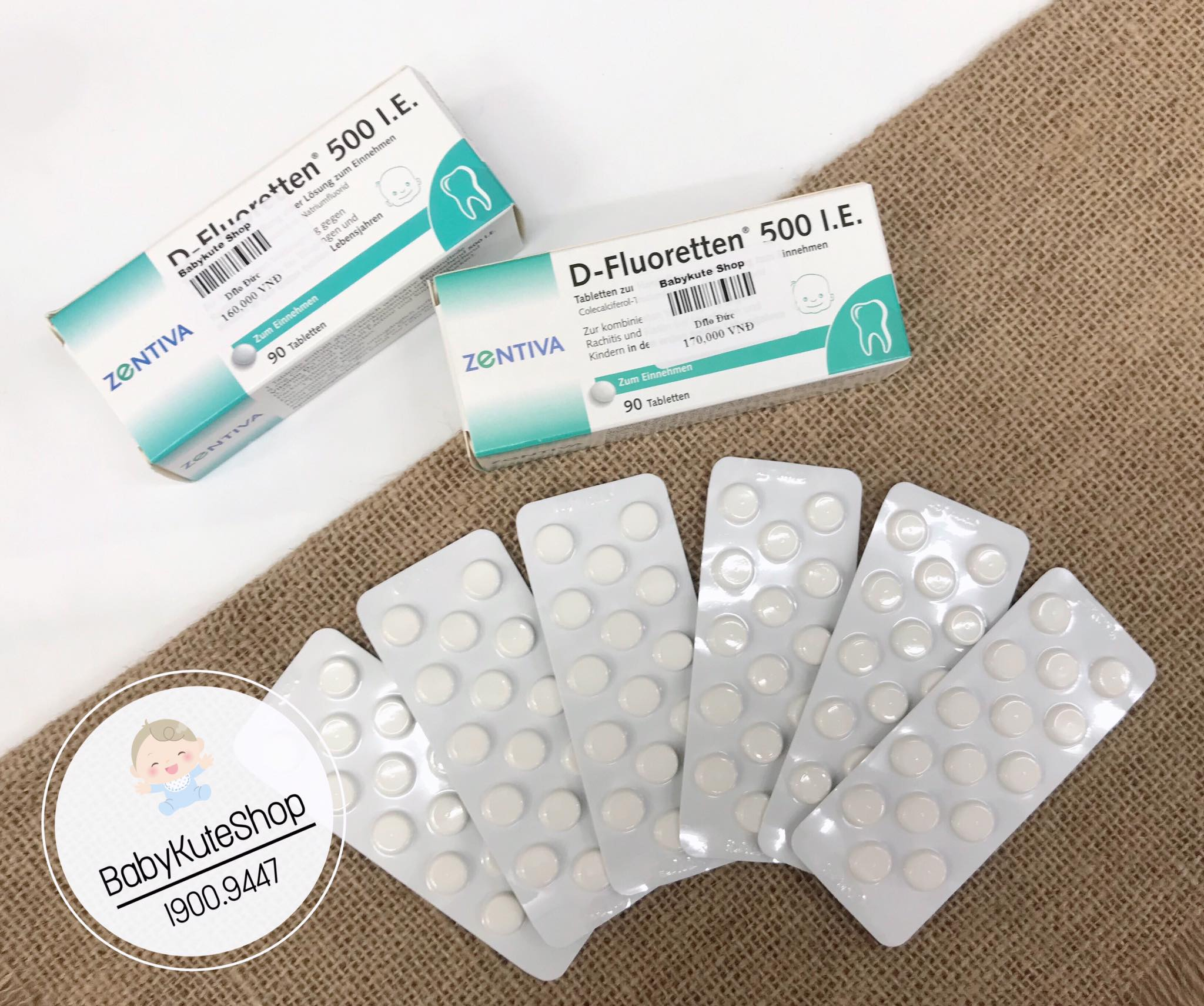 Vitamin D Fluoretten 500 IE dành cho bé từ sơ sinh