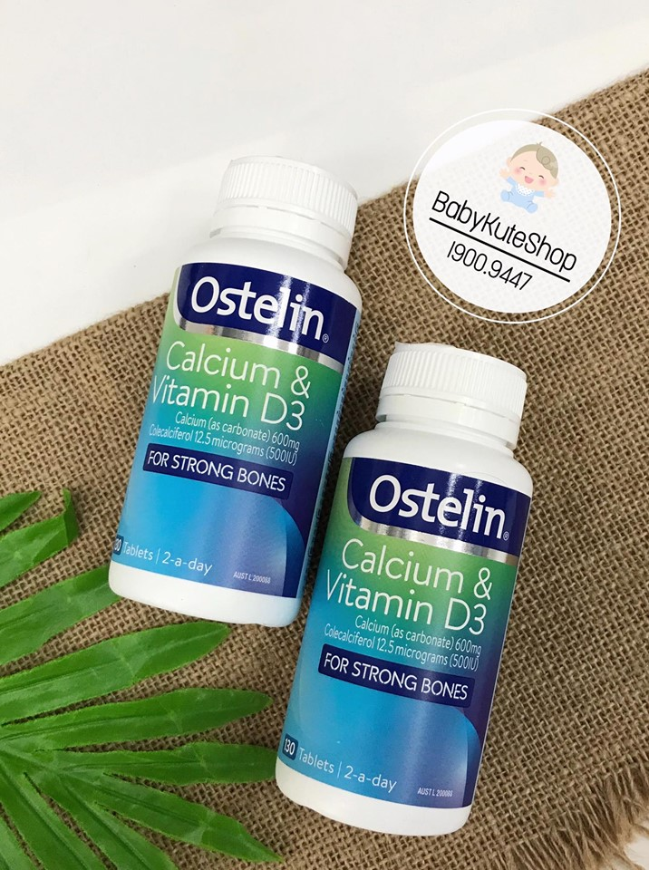 Ostelin Vitamin D & Calcium Của Úc 130 viên