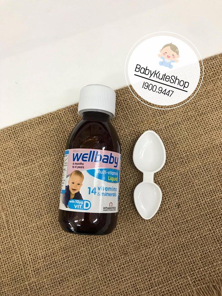 Wellbaby - Vitamin Tổng Hợp Cho Bé Chính Hãng Của Anh, 6 tháng - 4 tuổi