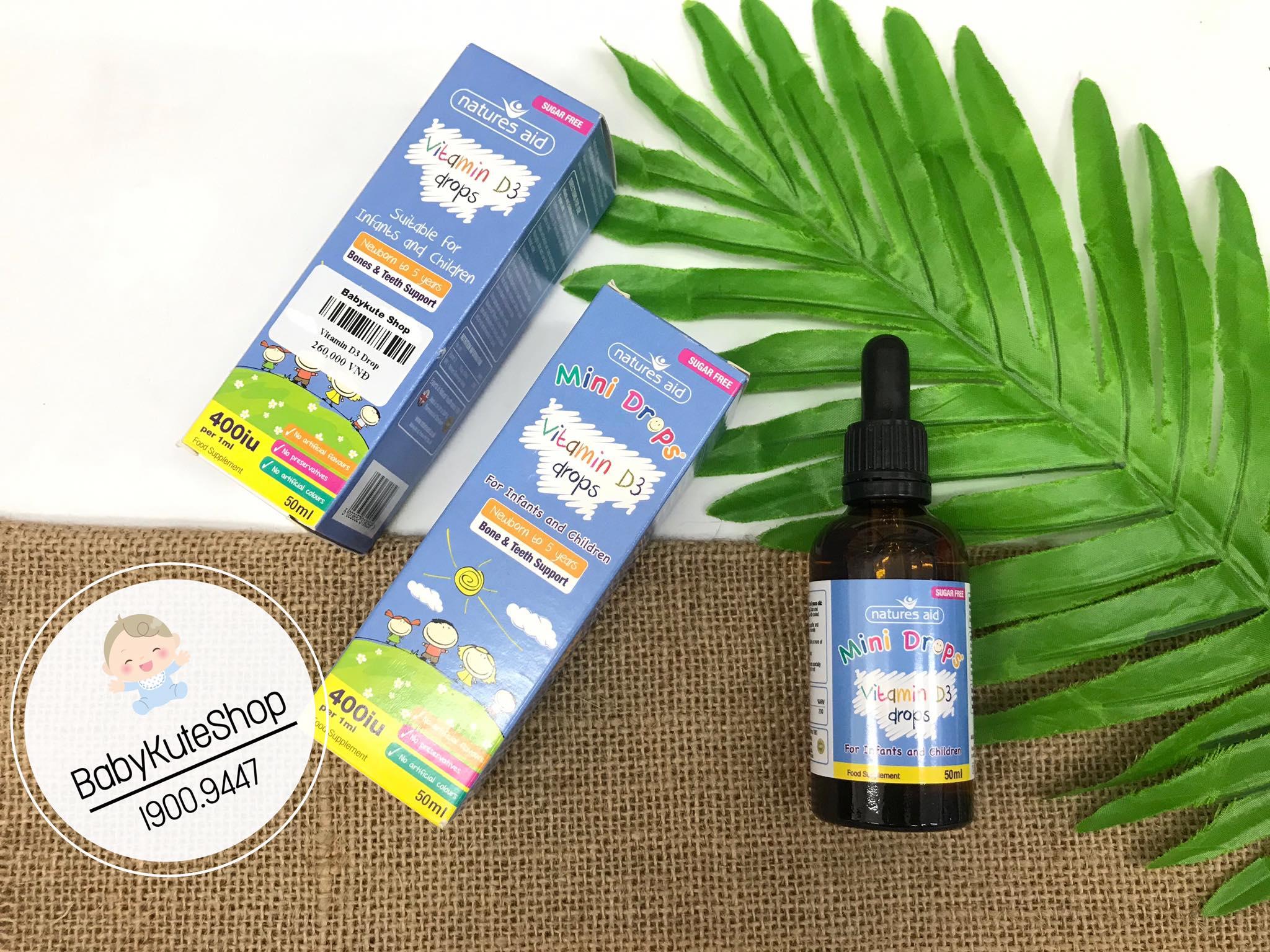 Vitamin D3 400IU Natures Aid Của Anh 50ml
