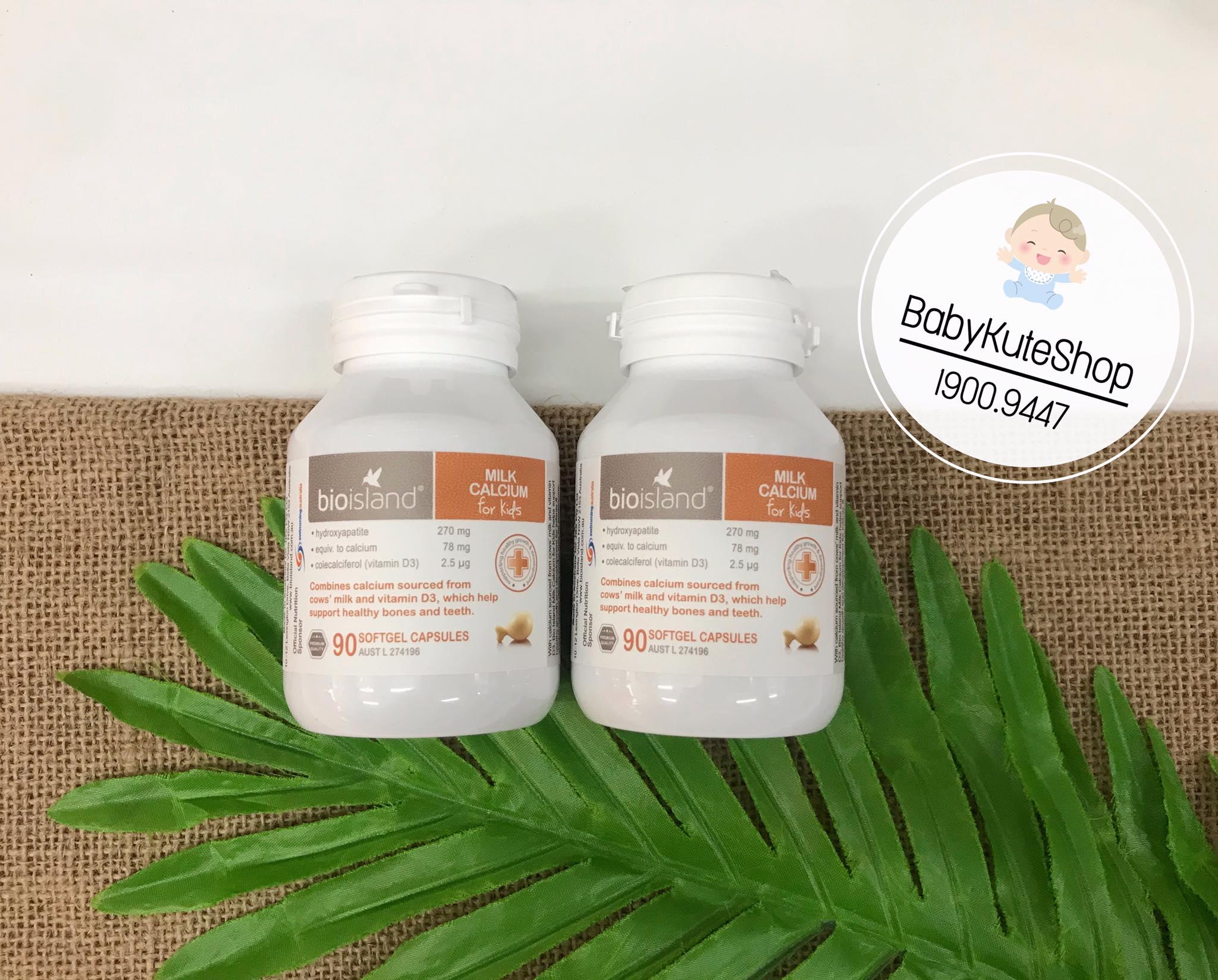 Canxi Milk Calcium Bio Island Úc - Sữa Bò Non Cho Bé