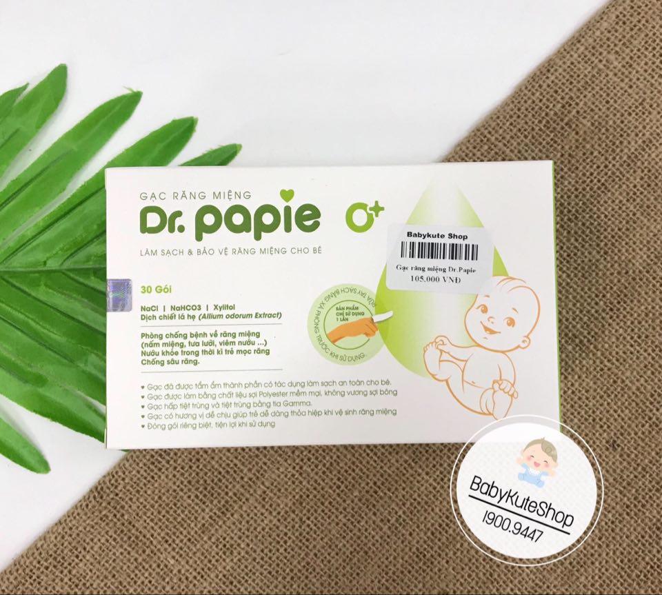 Gạc rơ lưỡi Dr Papie vệ sinh răng miệng cho bé