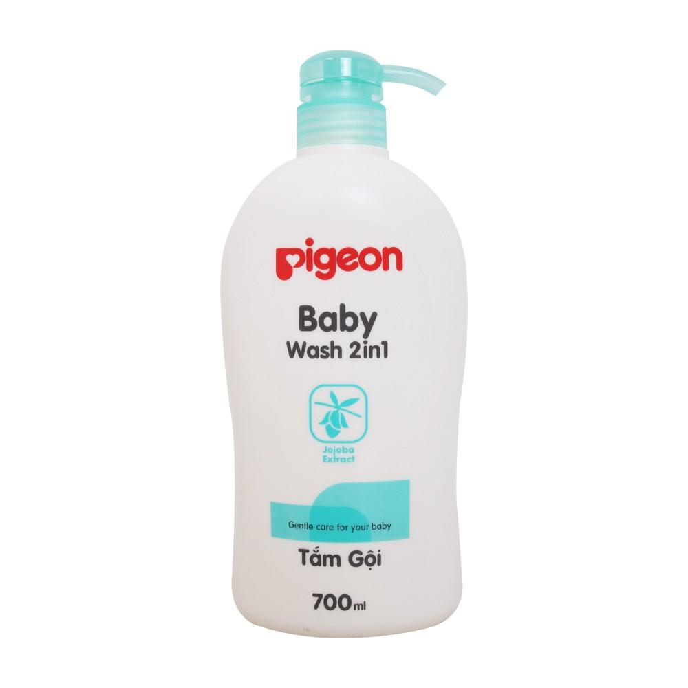 TẮM GỘI PIGEON - BABY WASH 2IN1 JOJOBA EXTRACT ( XANH LÁ ) - 500ml