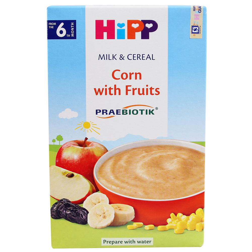 Bột dinh dưỡng HiPP hoa quả, sữa và bắp 250g (Trên 6 tháng)