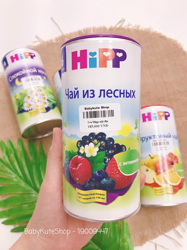 TRÀ HIPP CHO BÉ VỊ MÂM XÔI, VIỆT QUẤT, DÂU TÂY 6M+