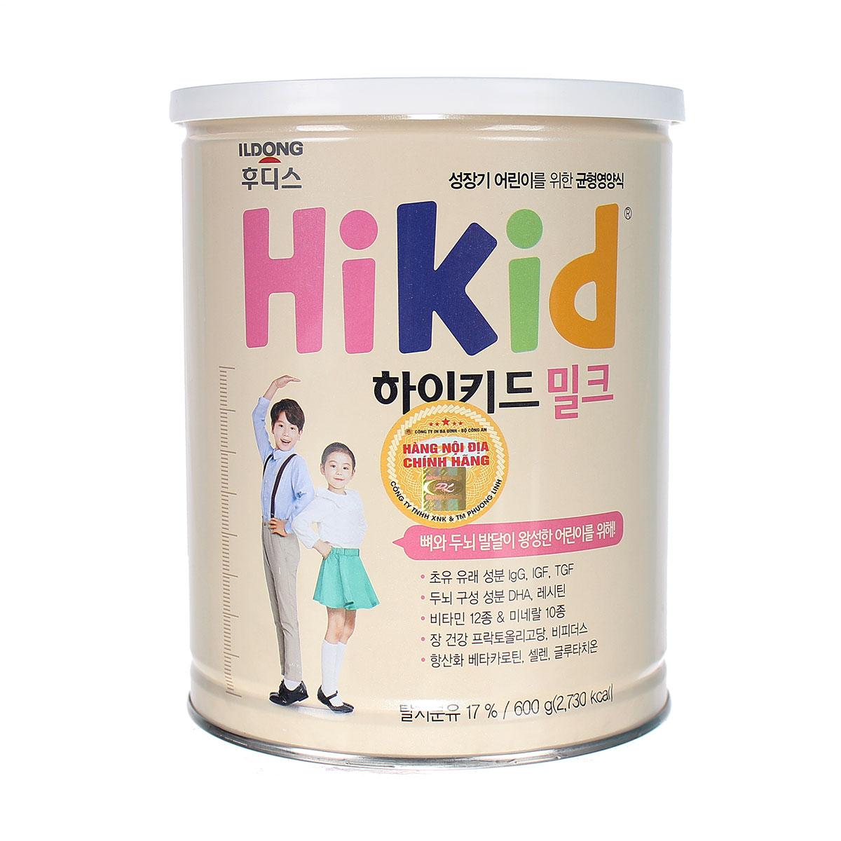 Sữa HiKid Bò ( Dành Cho Bé Từ 1 - 9 Tuổi )