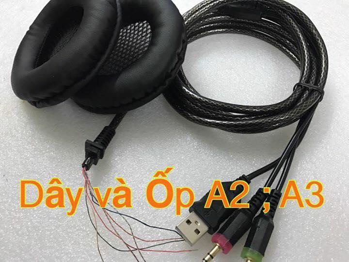 Ốp tai và dây nối tai nghe
