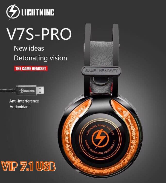 TAI NGHE LIGHTNING V7S PRO - Âm thanh 7.1 USB