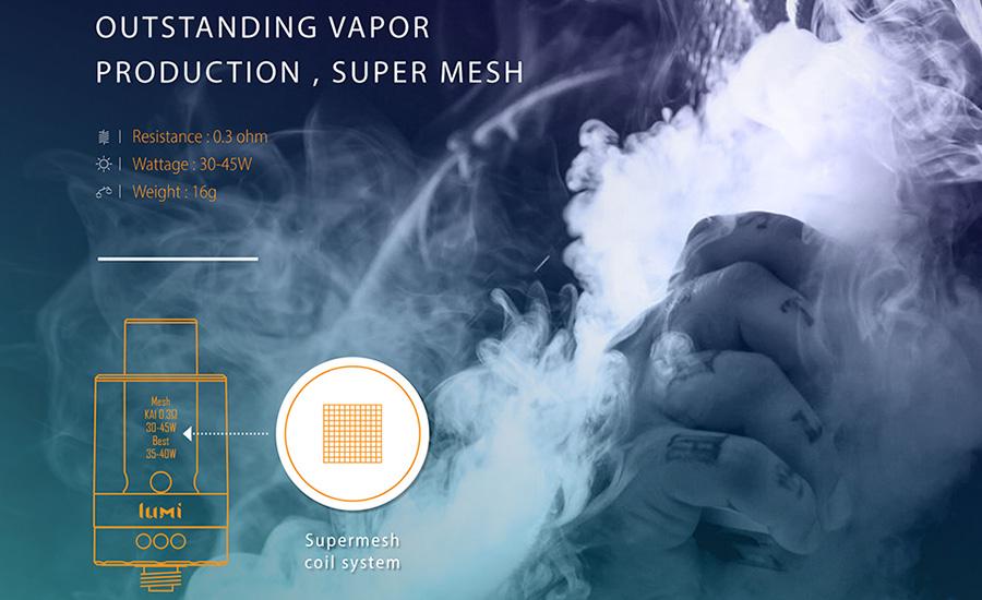 Bán đầu đốt vape shisha thuốc lá điện tử giá rẻ LUMI TANK chính hãng