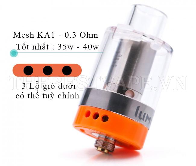 Bán đầu đốt vape shisha thuốc lá điện tử chính hãng LUMI TANK giá rẻ