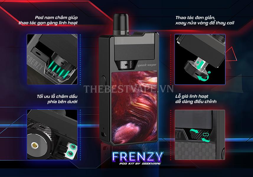 Pod system FRENZY Kit Vape giá rẻ chính hãng thuốc lá điện tử tp hcm