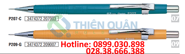 Bút chì kim kỹ thuật, thân nhựa đục - 0.9mm