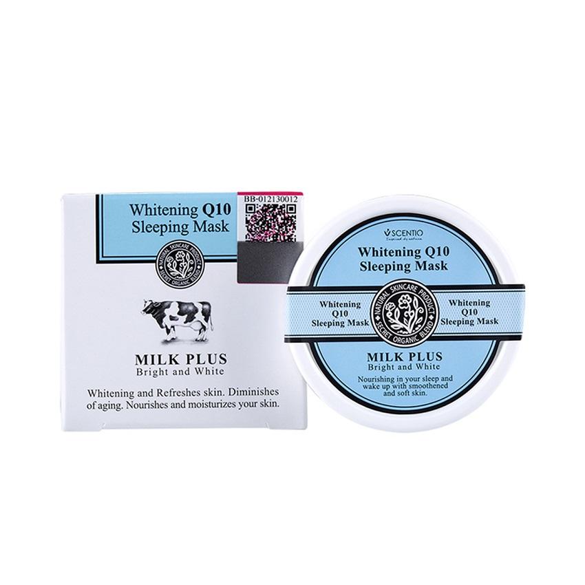 Mặt nạ ngủ dưỡng trắng và trẻ hóa da Scentio Milk Plus 45g