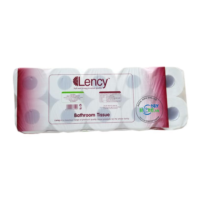 Giấy vệ sinh Lency nâu 10 cuộn 3 lớp