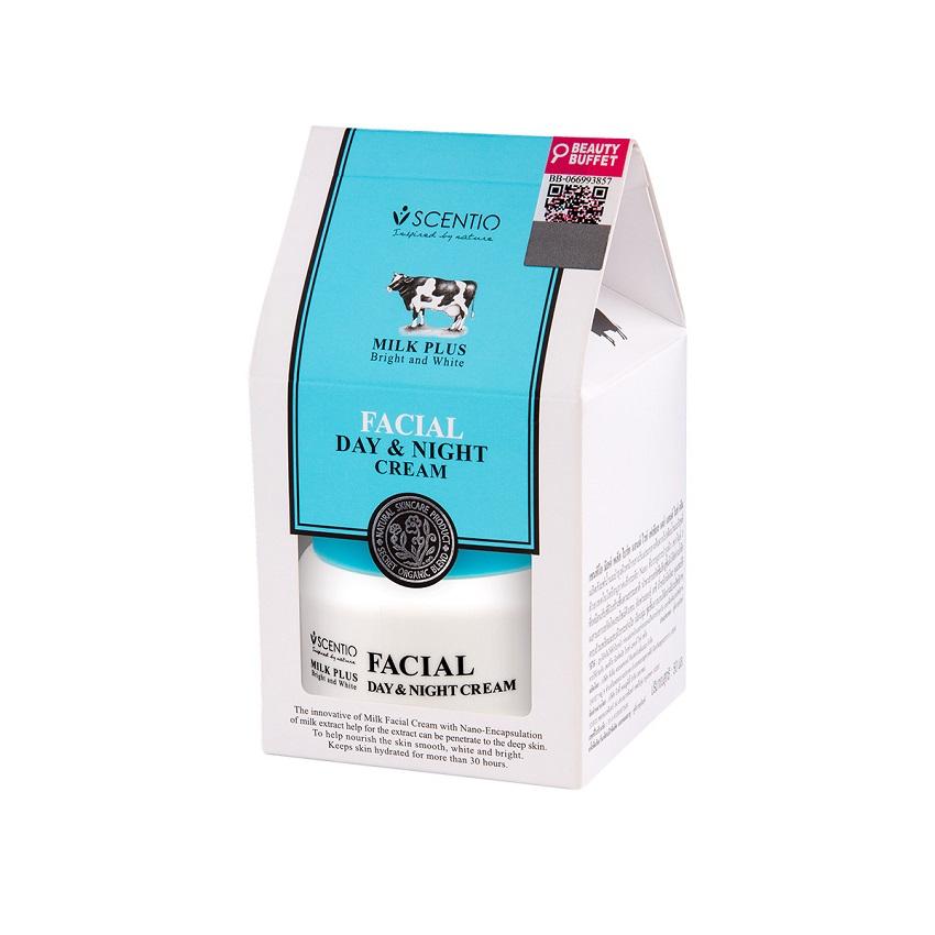 Kem dưỡng trắng và sáng da mặt ngày và đêm Scentio Milk Plus 50ml
