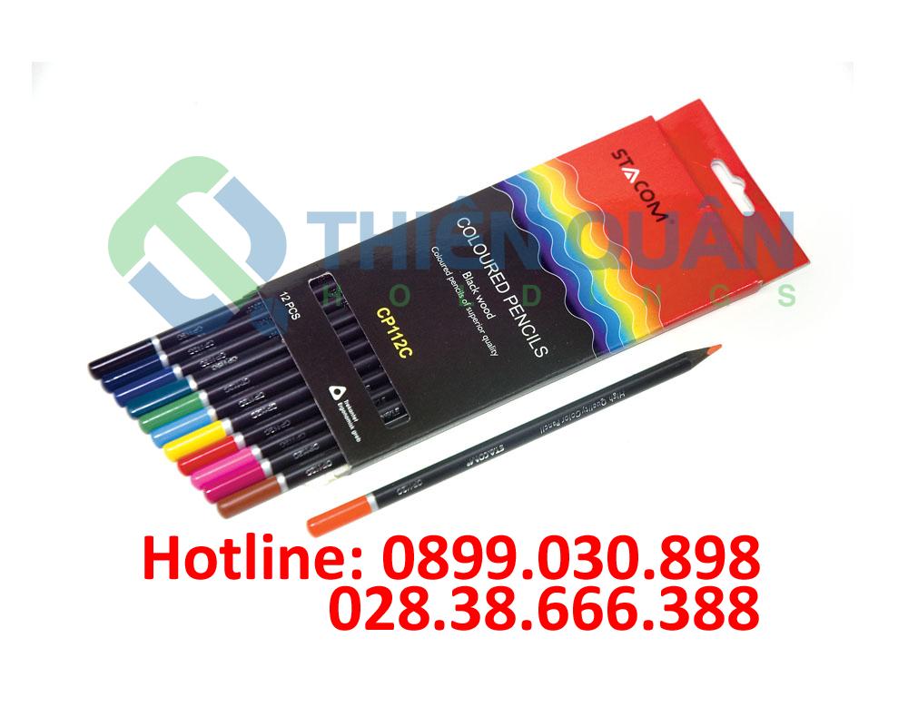 Bút chì gỗ 12 màu