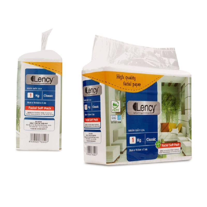 Khăn giấy lụa Lency 1kg (2 lớp)