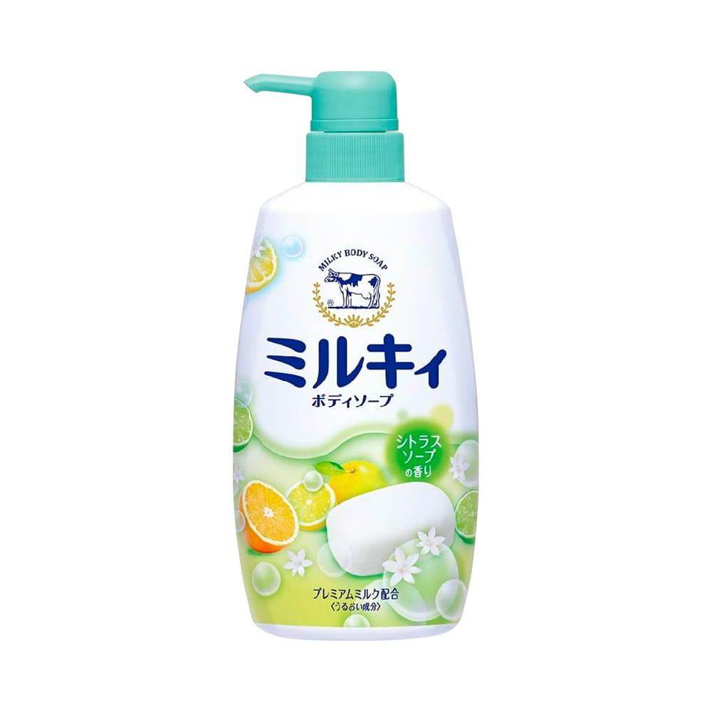 Sữa tắm hương hoa cam chanh milky body soap cow 550ml