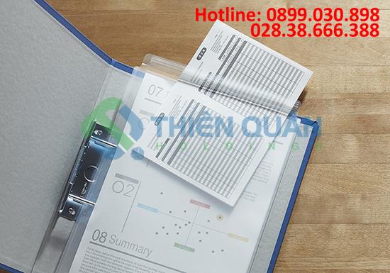 Túi hồ sơ bằng nhựa -Zipper 1 đầu