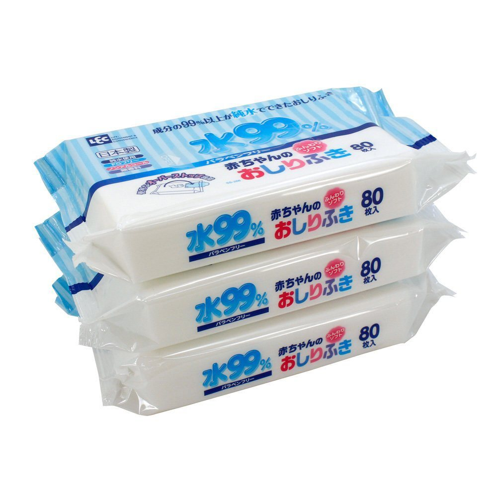 Gói 80 tờ giấy ướt cao cấp cho bé LEC