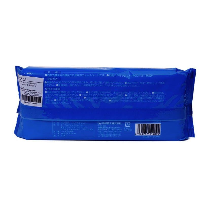 Gói 70 tờ giấy ướt cho người lớn (hương bạc hà)
