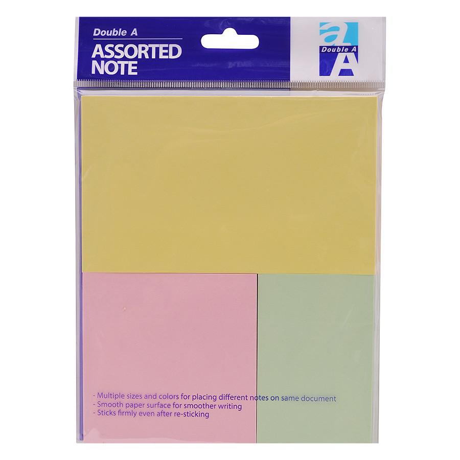 Giấy Note Double A (3 màu dịu)