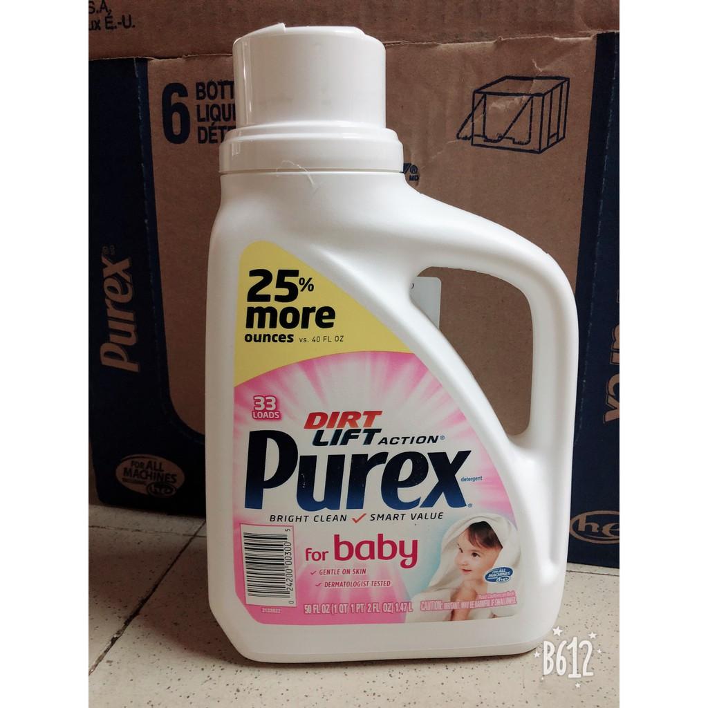 Nước giặt Purex Ultra Concentrate Baby 1.47Lít