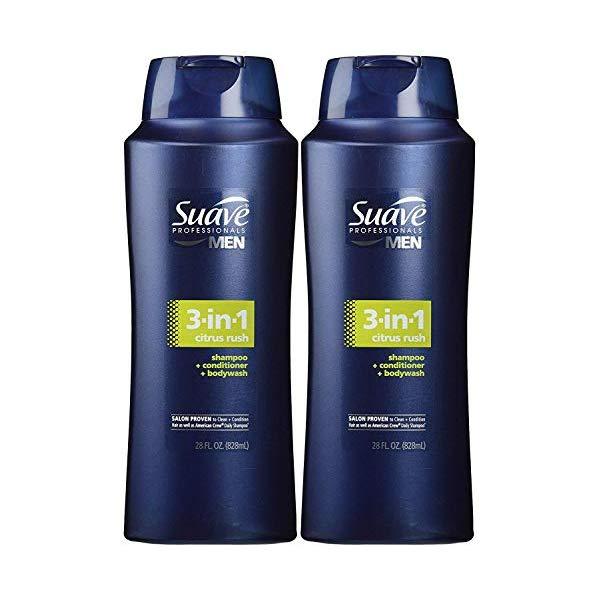 Dầu gội tắm xả 3 trong 1 Suave Professionals Men 3-in-1 Citrus Rush 828ml