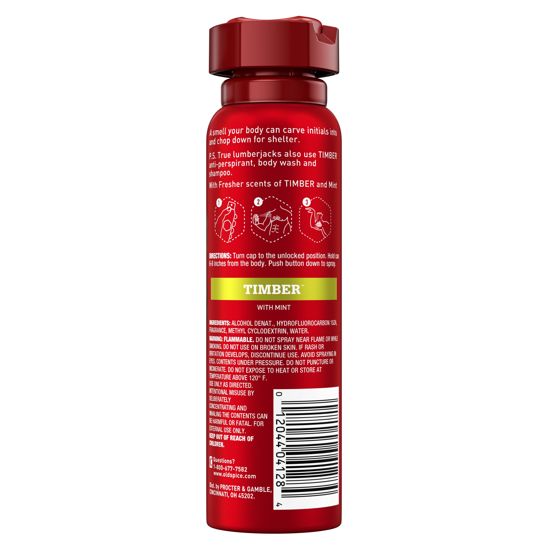 Xịt khử mùi Old Spice Timber Spray - Hàng Mỹ