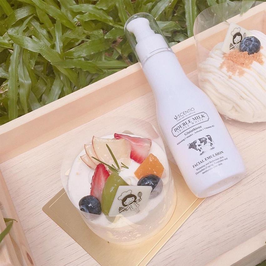 Sữa dưỡng trắng da mặt Scentio Double Milk 150ml