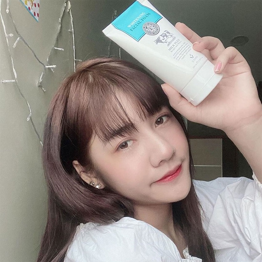 Sữa rửa mặt tạo bọt dưỡng trắng da Beauty Buffet Scentio Milk Plus 100ml